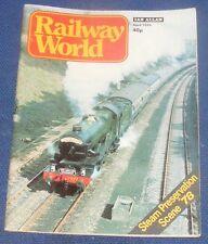 RAILWAY WORLD APRIL 1978 - STEAM PRESERVATION SCENE 1978