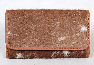 100% Real Cowhide Wallet Real Leather Hair ON Western Ladies Wallets  SA-3000