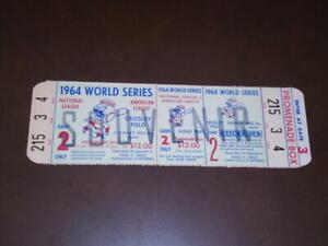 1964 CINCINNATI REDS WORLD SERIES PHANTOM FULL TICKET EX-MINT