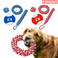 Aggressive Chew Toys for Dogs Braided Rope Interactive Chewing Toy Ball/Tug/Ring