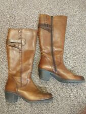 WOMENS 9M LEATHER CLARKS BOOTS  brown BEAUTIFUL FOOTWEAR