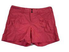 Athleta Dipper Athletic Shorts Sz 8 Pink Lightweight Hike Stretch