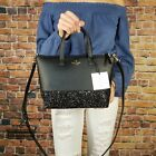 Kate Spade Greta court Ina Glitter Crossbody Bag Black Satchel Small AUTHENTIC