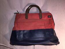 pre-loved authentic JACK SPADE orange & blue WAX DIP zip top SATCHEL bag $299