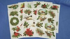 Anna Griffin Christmas Greenery Rub On Transfers Card Making Set of 8