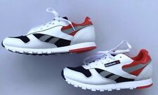 Mens Reebok Sz 6.5 Classic Leather Retro Running Shoes Red White Navy