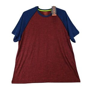Big Tall Foundry Mens Active T Shirt Heathered Red Blue Stretch 3XLT Athletic NW