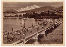 Switzerland; Geneva - Harbour & Bridge Hold To Light Novelty PPC, Unposted