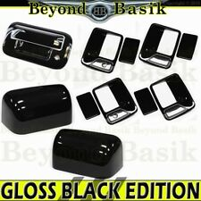 2008-2016 Ford F250 Crew GLOSS BLACK Door Handle Covers 2KH+Mirror Top+Tailgate