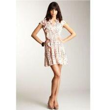 Hazel Anthropologie Dove Bird Dress Small Pink Navy Size S NEW $148