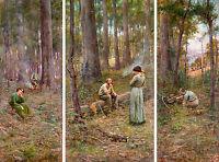 Frederick McCubbin - The pioneer, Museum Australian Art Poster, Canvas Print