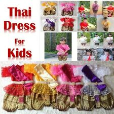 Traditional Princess Girls Thai Kids Costume Thai Dance Party School Occasions