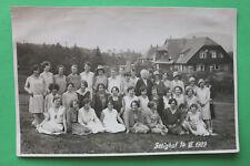 Foto AK Baden Baden Selighof 1929 Mädchen Kleider Mode Hausansicht Hüte Haus W8