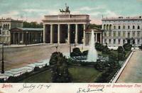 1904 VINTAGE Pariserplatz and Brandenburger Thor POSTCARD - USED - to Halifax