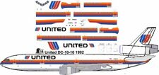 United Saul Bass  DC-10-10 airliner decals for Revell 1/144 kits