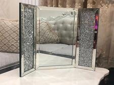 Mirrored Crushed Crystal Diamond Vanity Dressing Table Mirror