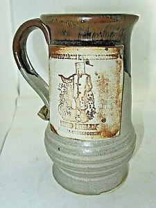 Pottery Tankard Mug NED KELLY Australian Bushranger Durrell ? Creek Pottery