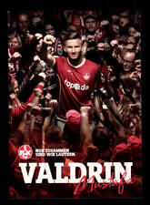 Valdrin Mustafa Autogrammkarte 1 FC Kaiserslautern 2017-18 Original Sig+A 174632