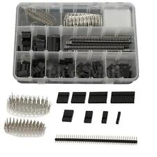 320pcs Wire Jumper Pin Header Connector Housing Kit And M/F Crimp Pins For Dupon