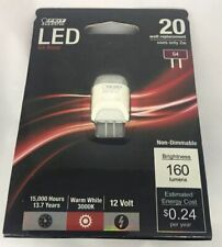 Feit Electric LED Replacement 2W Light Bulb with G-4 Base 20 Watts New