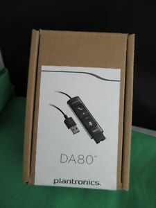 Plantronics Poly DA80 E+A USB Audio Processor 201852-02 for Headsets