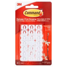 Command Brand  3M Damage Free Hanging Decorating Clips 20 Count (17026ES) NEW