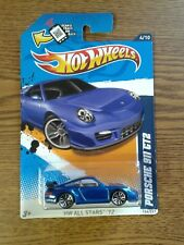 Hot Wheels Porsche 911 GT2 Metallic Blue HW All Stars '12 #4/10 1:64 Scale Model