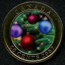 "2007 Canada 50 Cent Coin "" Holiday Ornaments """