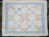 Vintage JC Penney Patchwork Quilt Sham Star Floral Flower Pink Blue White New