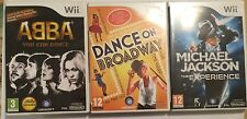 3 NINTENDO Wii GAMES DANCE ON BROADWAY +ABBA YOU CAN +MICHAEL JACKSON EXPERIENCE