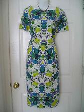 $209 NWT TALBOTS FLORAL LINEN+COTTON DRESS SHEATH 18W 2X (sp300)