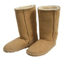 Australia Sheepskin Classic Tall Ugg Boots Natural Beige Wool Mens Ladies Boot