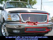 Fits 1999-2003 Ford F-150 2WD Billet Grille Combo