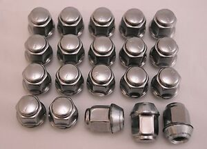 20 New Chrysler Dodge Factory OEM Stainless Polished Lug Nuts 12x1.5 6502738