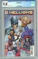 Hellions #1 CGC 9.8 1st First Print Edition Stephen Segovia Cover 2020