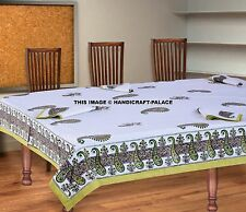 Cotton Rectangular Tablecloth Napkins Set Indian Paisley Block Print Table Cover