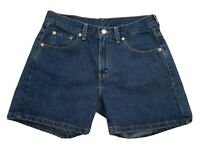 Levis Miss Size 8 Blue Jean Shorts MED Bermuda Cotton High Waist