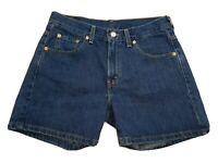 Levis Miss Size 8 Blue Jean Shorts MED Bermuda Cotton High Waist