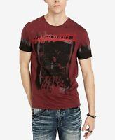 $115 Buffalo David Bitton Men Red Crew-Neck Short-Sleeve Graphic Tee T-Shirt 2XL