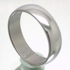 6mm MENS SILVER STAINLESS STEEL TRADITIONAL WEDDING BAND RING SIZE 11.5