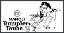 orig Reklame Manoli Heilemann Kaiserliche Fliegertruppe Rumpler-Taube Pilot 1915