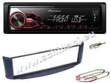 Autoradio Pioneer USB  + Kit montaggio per Smart Fortwo blu
