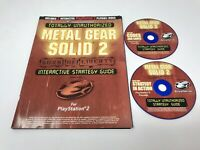 Metal Gear Solid 2 Sons of Liberty Game Shark Strategy Guide Book w/ 2 CD's