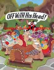"Vintage Disney Alice in Wonderland Thanks Giving 1981[ 8.5"" x 11"" ]   Poster"