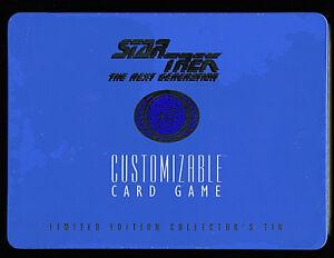 Star Trek LTD Collectors Tin Sealed 1995 Next Generation Decipher CCG Amricons