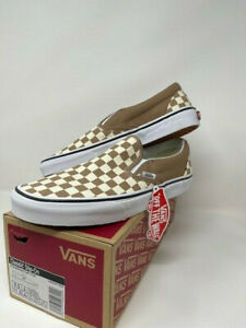 NEW with box Vans Mens Classic Slip-On Skate Sneakers Shoes Checkerboard M 11.5