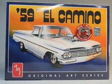 AMT 1058/12 1959 EL CAMINO CHEVY MODEL CAR KIT plastic race 1:25 Scale 1058 NEW