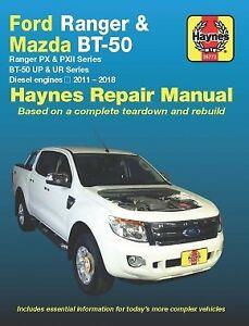 Haynes Ford Ranger PX/PXII Diesel Workshop Repair Manual 2011-2018 MPN HA36772