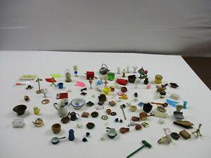 Vintage Dollhouse Accessories Dollhouse Miniature Huge Lot