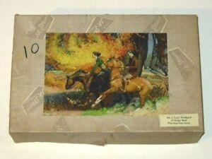 Rare JK STRAUS O'er Autumn Trails WOOD Jigsaw Puzzle #226! 500+ Pieces! Horses!